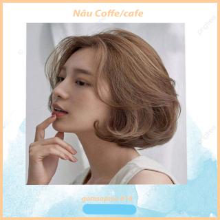Thuốc nhuộm tóc Nâu coffee Nâu cafe không tẩy thumbnail