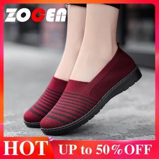 ZOCEN Giày nữ Giày đi bộ thoáng khí nhẹ Giày đế bằng Giày đế bằng Giày thể thao thumbnail