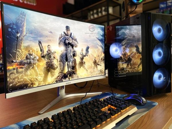 Bảng giá Trọn bộ máy tính chơi game, edit video, live stream: I5 4590 / RAM 16GB / SSD 120GB / RX 570 4GB / Màn hình 24inch cong 75Hz new 100% Phong Vũ