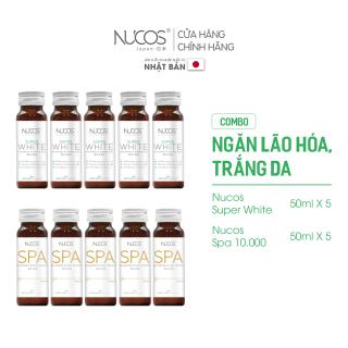 Combo nước uống chống lão hóa trắng da Nucos Spa 13500x5x50ml và Nucos Super Whitex5x50ml thumbnail