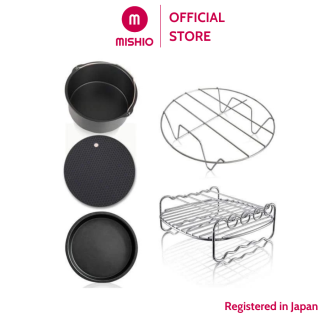Phụ kiện khay Nồi Chiên Không Dầu Mishio MK217 loại 8 inch - Dùng cho nồi chiên 4L, 4.5L, 5L, 5.5L thumbnail