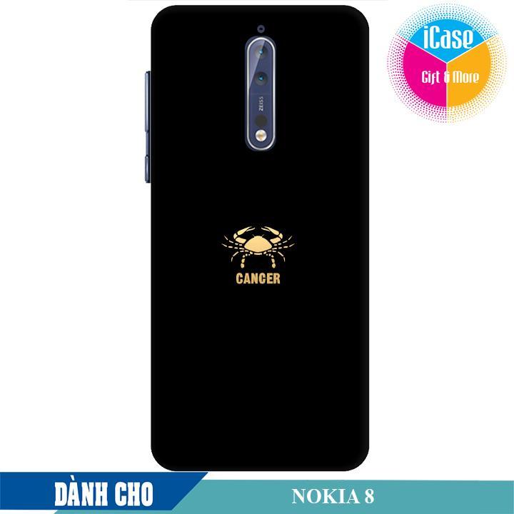 Ốp lưng nhựa dẻo dành cho Nokia 8 in hình Cung Cự Giải
