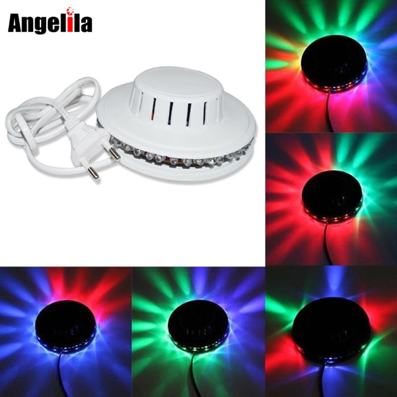 Angelila đèn led 7 màu Hiệu ứng ánh sáng sân khấu đầy màu sắc Đèn vũ trường Quầy bar DJ Club Pub Đèn tiệc đèn led trang trí