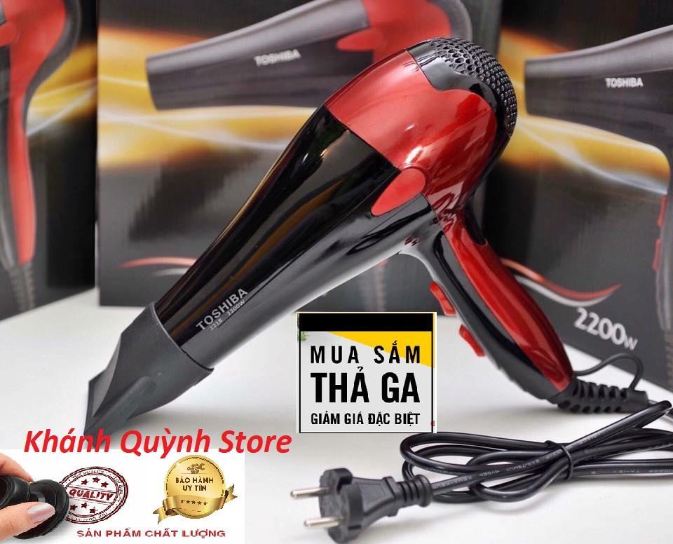 Máy Sấy Tóc Toshiba công suất lớn 2200W,  3 chế độ sấy - Uốn tóc - Tạo kiểu chuyên nghiệp -  Hàng Xịn Thổi Khỏe, Bảo Hành 12 tháng