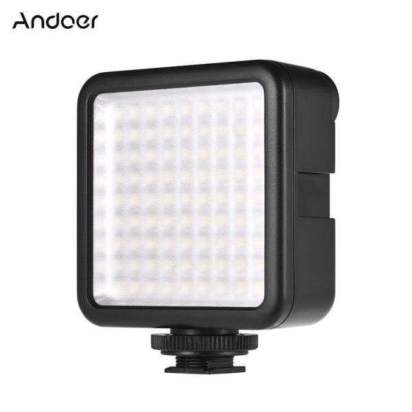Giá Andoer W81 Mini Interlock Camera LED Light Panel 6.5W Máy quay video 6000K có thể điều chỉnh độ sáng với Bộ điều hợp gắn giày cho DJI Ronin-S OSMO Mobile 2 Zhiyun Smooth 4 Bộ ổn định Gimbal cho Canon DSLR Sony DSLR