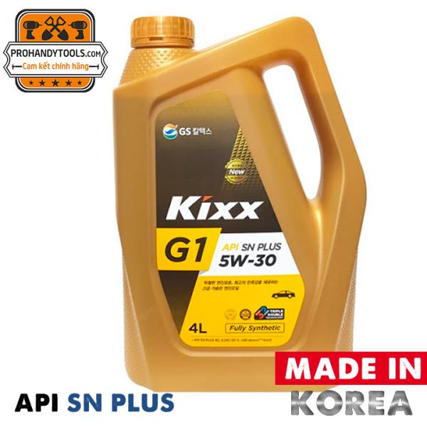 Nhớt Xe Hơi Kixx G1 5w30 Hàn Quốc Chất Lượng API SN PLUS - Bình 4L