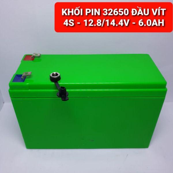 Achun.vn - HỘP PIN 32650 ĐẦU VÍT 4S- 12.8V/14.4V - 6.0AH XẢ 20A