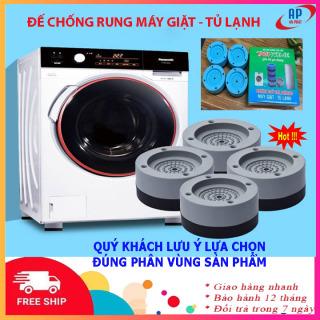 [SET 4 CHIẾC] Chống rung máy giặt- Đế chống rung máy giặt- Kệ chống rung máy giặt, tủ lạnh giảm tiếng ồn hiệu quả trong khi sử dụng- Chân đỡ đa năng máy giặt, tủ lạnh thumbnail