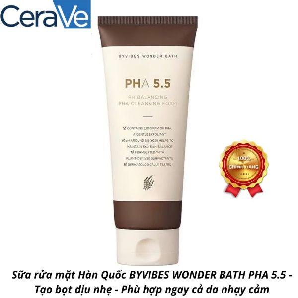 Sữa rửa mặt Hàn Quốc BYVIBES WONDER BATH PHA 5.5 - Tạo bọt dịu nhẹ - Phù hợp ngay cả da nhạy cảm cao cấp