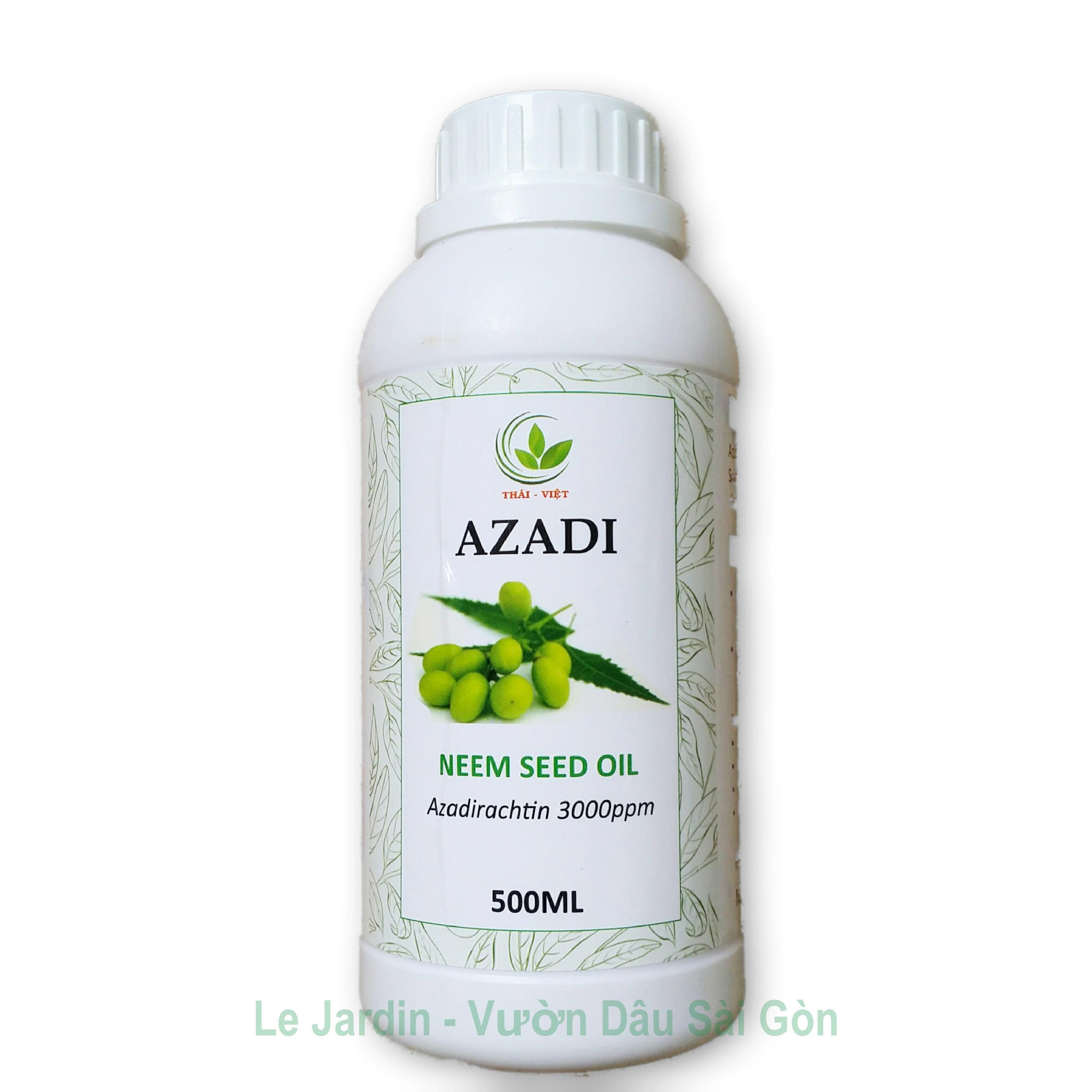 Neem Seed Oil - Dầu Neem AZADI - Dầu Neem Hữu Cơ Đã Được Nhũ Hóa Chuyên Trị Bọ Trĩ