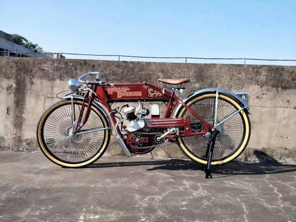 Phân phối Xe Đạp Máy Cổ Điển - Harley 1903 - Báo Đen Mỹ