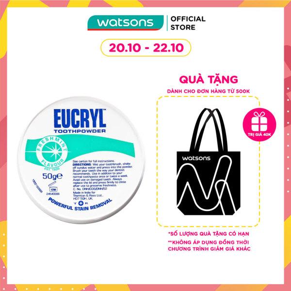 Bột Đánh Răng Tẩy Trắng Eucryl Toothpowder 50g nhập khẩu