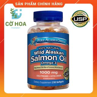 Viên dầu cá hồi Pure Alaska Omega 3 Wild Salmon Oil 1000 mg - Hộp 210 viên thumbnail