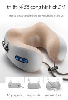 Gối Massage Cổ Chữ U Hàn Quốc, Máy Massage Vai Cổ Gáy Đa Năng Vải Lông Mềm Mại, Nhiều Chế Độ Massage.Bảo Hành 12 Tháng ,Lỗi 1 Đổi 1 thumbnail