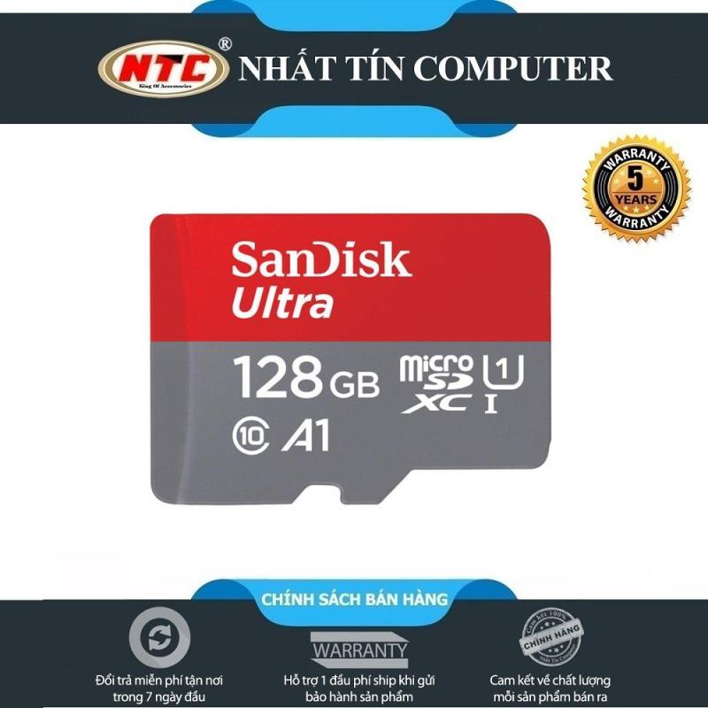Thẻ nhớ MicroSDXC SanDisk Ultra A1 128GB Class 10 U1 100MB/s - box Hoa (Đỏ) - Nhất Tín Computer
