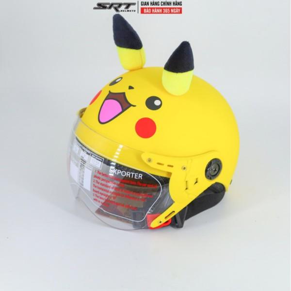 Giá bán Mũ bảo hiểm pikachu trẻ em có kính SRT (4-10 tuổi)