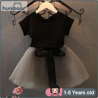 Bộ Áo Váy Bé Gái 1-6 Tuổi, Áo Thun Và Váy Bé Gái Ngắn Tay, Vải Tuyn