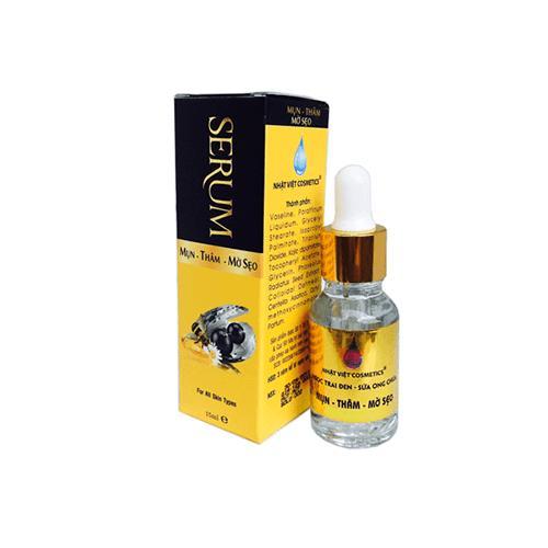 Serum trị mụn, xóa thâm, liền sẹo ngọc trai đen, sữa ong chúa 15ml