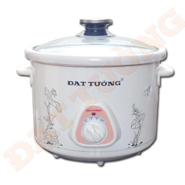 Nồi kho cá, nấu cháo, hầm gà, ninh xương đa năng cắm điện dung tích 2,5L cho cả gia đình, Nồi kho cá Đạt Tường cao cấp, hàng Việt Nam, chất lượng tốt, có 3 mức điều chỉnh thời gian khi nấu