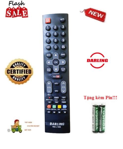 Bảng giá Remote Điều khiển tivi Darling RM-L1359 các dòng LED/LCD/Smart TV- Hàng loại tốt Tặng kèm Pin