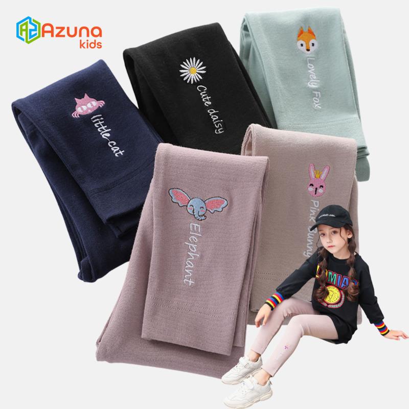 Quần legging bé gái Azuna – Quần thun cotton họa tiết thú cưng hàng xuất khẩu