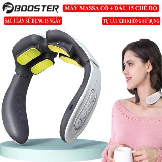 Máy massa cổ - Máy Massage Đốt Sống Cổ 4D với 4 Đầu Massage, 15 chế độ rung 12 Mức Điều Chỉnh, Sạc 1 lần dùng được 15 ngày kèm chế độ thông minh tự động tắt máy khi không sử dụng làm giảm mọi cơn đau vai gáy cho bạn thumbnail