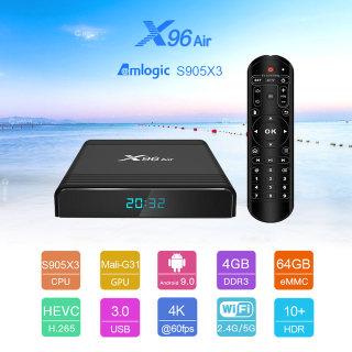 X96 Air bluetooth Ram 4G Rom 32G android 9 cài sẵn các ứng dụng giải trí phim HD , truyền hình cáp youtube chặn quảng cáo miễn phí vĩnh viễn thumbnail