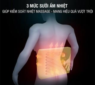 Đệm massage lưng rung nóng nhiệt hồng ngoại YIJIA YJ-M4 5