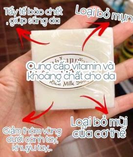 [Siêu Rẻ] Xà Phòng Trắng Da Thái Lan Jam Rice Milk Soap thumbnail