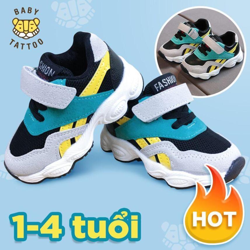 BABY TATTOO Giày thể thao trẻ em cho bé trai và bé gái siêu thoáng siêu mềm 1-2-3-4 tuổi giá rẻ