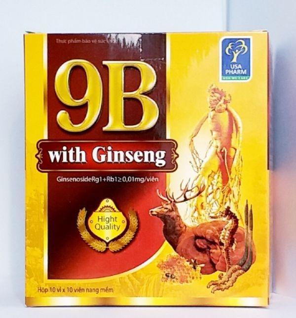 Vitamin 9B gingsen giảm tê bì chân tay hộp 100v