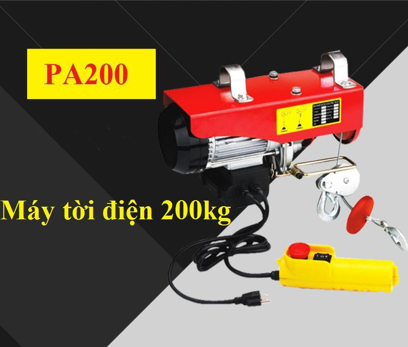 tời điện 200kg 12m Tính linh hoạt cao, kết cấu gọn, kích thước nhỏ và công suất nâng và kéo lớn.