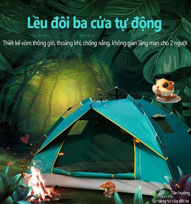 Lều Cắm Trại, Dã Ngoại, Câu Ca, Du Lich Cao Cấp Tự động Bật Mở 2- 3 Người, Gập Cất Dễ Dàng, Chống Nước Bền Bỉ Có Giá Tốt