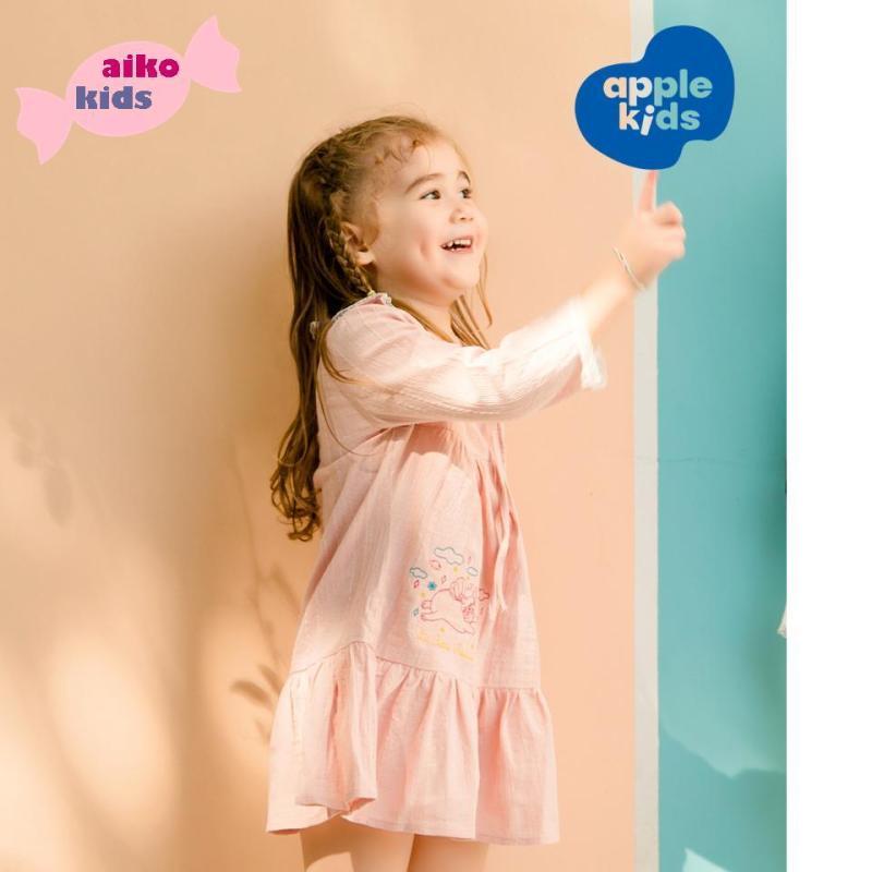 Nơi bán Đầm công chúa 01 cho bé gái mặc nhà, chất liệu Kate mềm thêu dệt