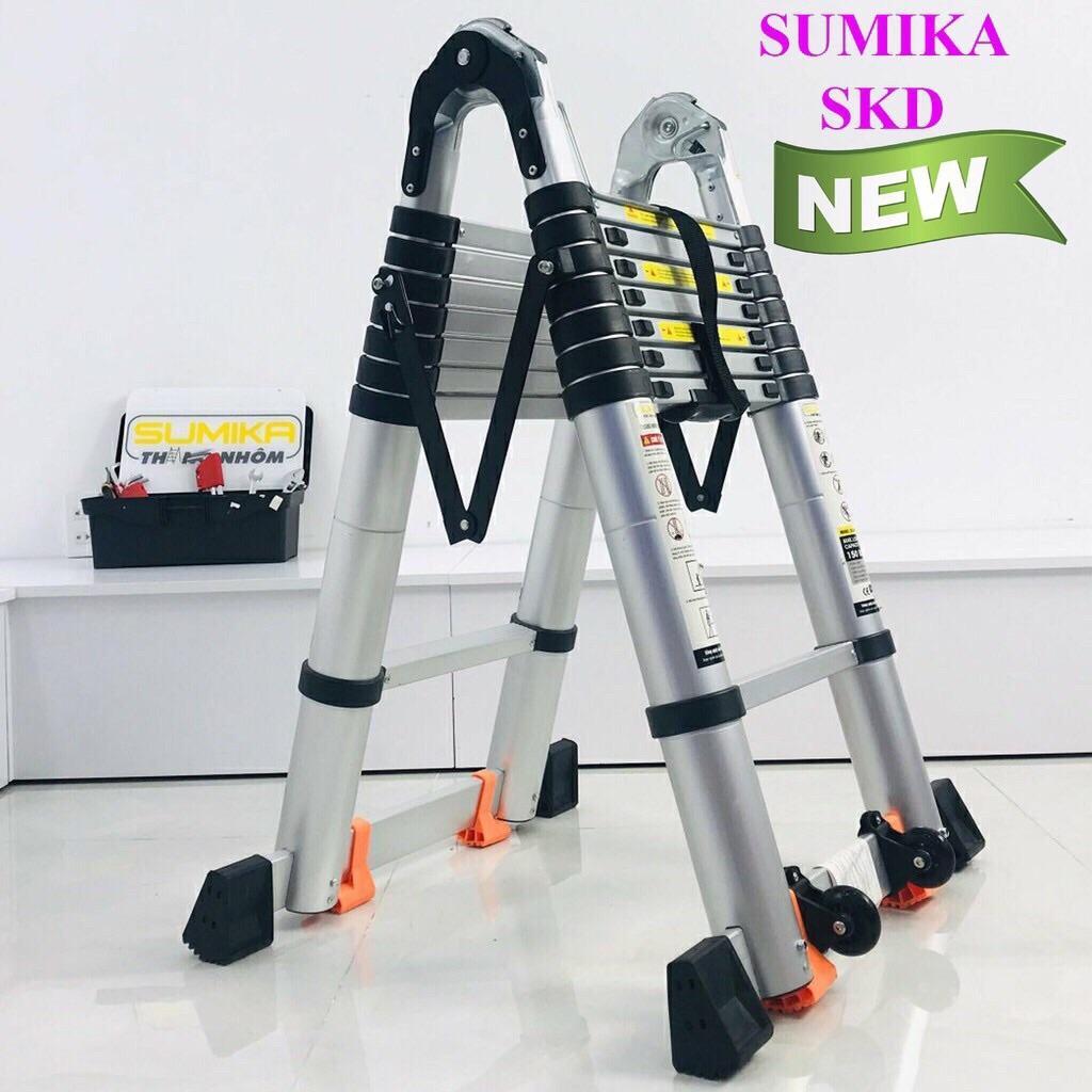Thang nhôm rút chữ A cao cấp Sumika SK500D NEW
