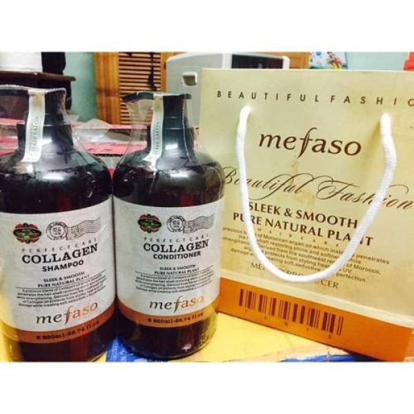 Dầu Gội Collagen Mefaso 850ml - Cặp Dầu Gội Phục Hồi Hư Tổn