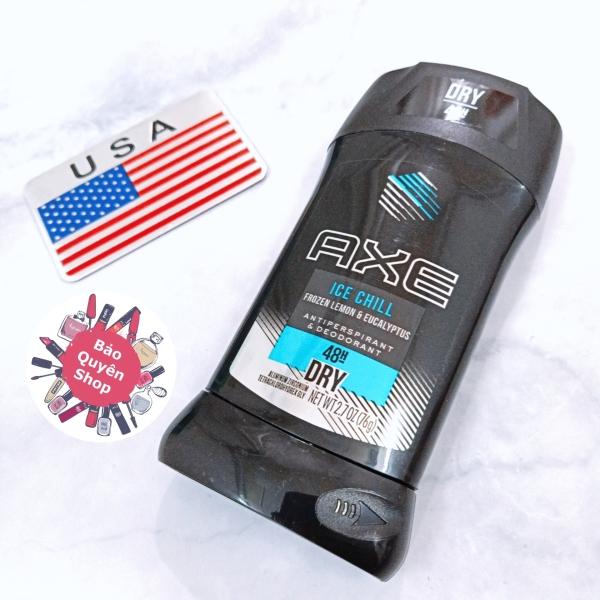 Lăn khử mùi nam dạng sáp trắng Axe Ice Chill - 48h Dry - Antiperspirant & Deodorant 76g cao cấp