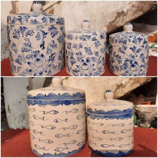 Hũ đựng muối, gạo, muối dưa cà hoạ tiết Bát Tràng thumbnail