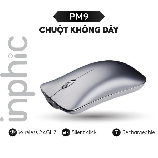 Bảng giá Chuột không dây Inphic PM9 phong cách Macbook có thể sạc lại dùng cho tất cả các dòng máy tính, laptop, smart TV, TV box... - Hàng Chính Hãng Phong Vũ