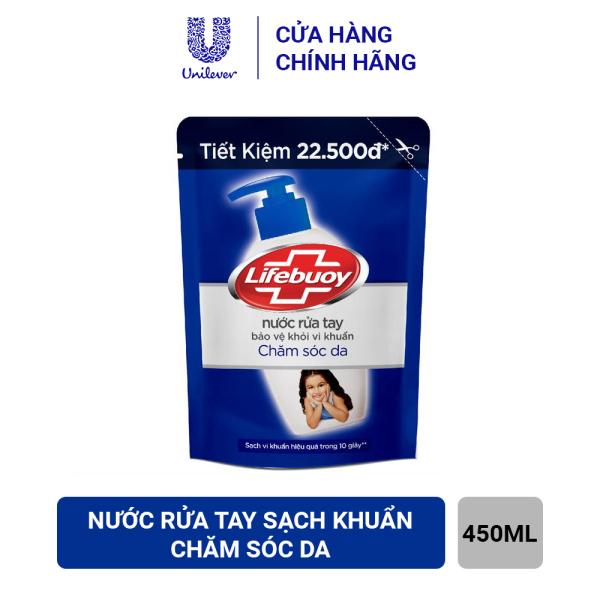 Nước Rửa Tay Lifebuoy Chăm Sóc Da Dạng Túi (450g) nhập khẩu
