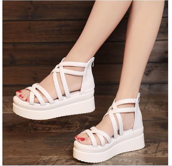 Giày Sandal đế xuồng phong cách Hàn Quốc - SS011