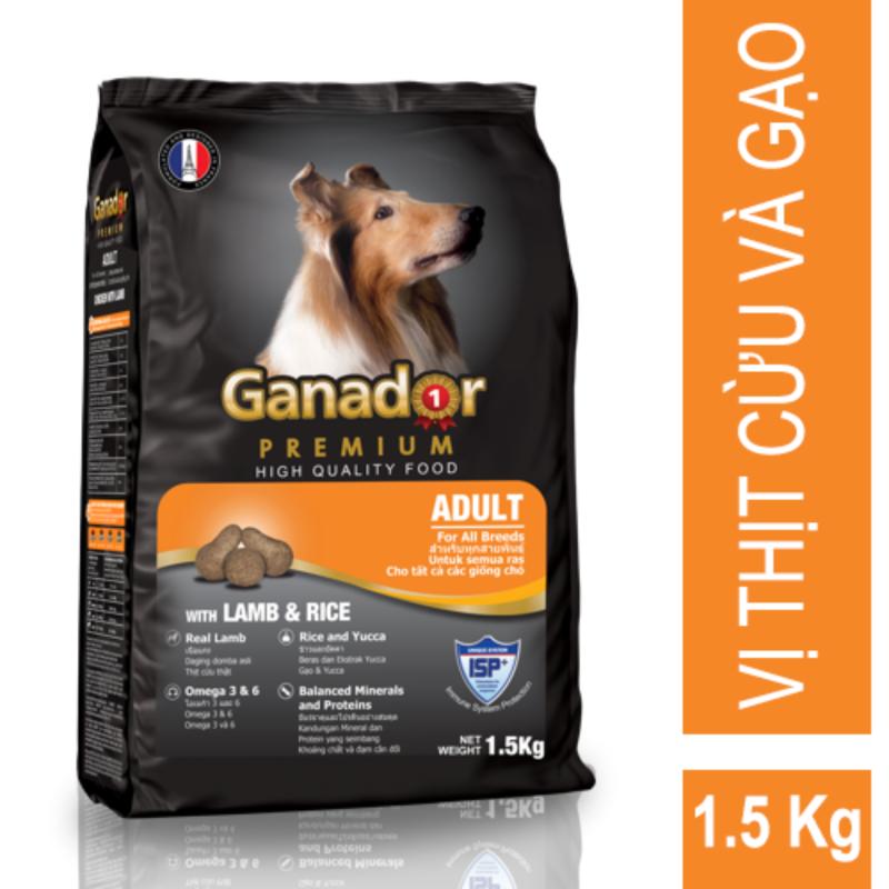Thức ăn cho chó trưởng thành Ganador Lamb & Rice 1,5kg