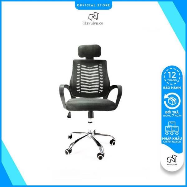 [TẶNG 20K]Ghế Xoay Tựa Đầu Quay 360 Độ, Ghế Giám Đốc Làm Việc Văn Phòng Dưa Lưng HAVULYN-VP04: ghế đổng sự, ghế quản lý giá rẻ