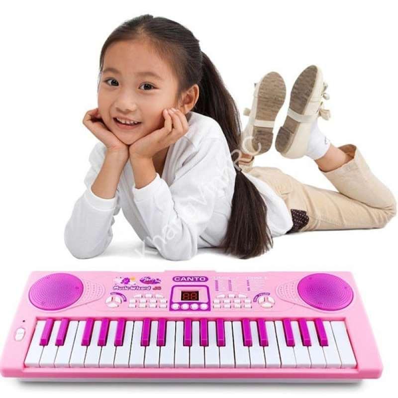 Đàn piano 3701 có mic, Hộp đàn organ pin 37 phím kèm micro, Đồ chơi âm nhạ, Đàn cho bé, Đàn có kèm Micro bé vừa tập đàn tập hát, Đàn piano