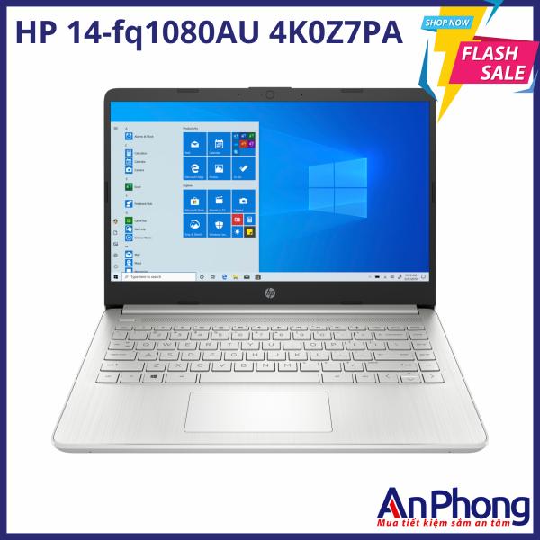 Laptop HP 14-fq1080AU AMD R3-5300U 4GB 256GB W10 4K0Z7PA, sản phẩm chính hãng, bảo hành 12 tháng