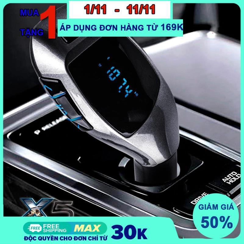 (Mẫu Hót ) Tẩu nghe nhạc Mp3 Bluetooth 5.0 X5 Xe Ô Tô Phong Cách Cần Lái , Chơi Nhạc Bằng BLuetooth ,thẻ TF ,Usb không dây qua Fm