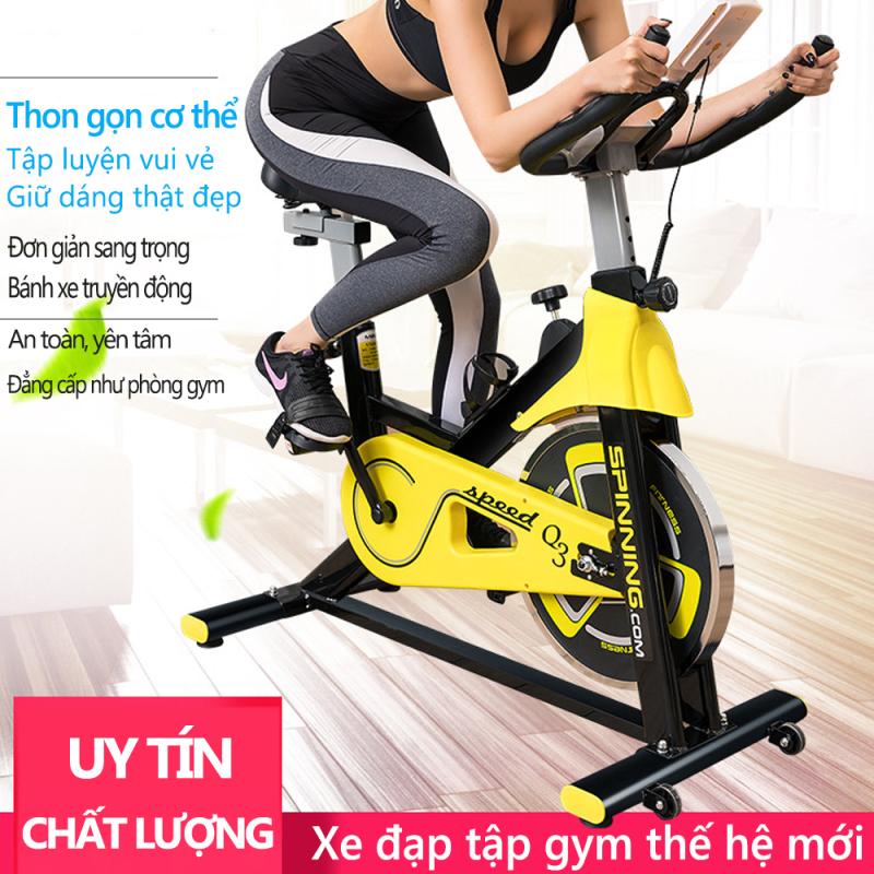 Xe đạp tập gym tại nhà màu vàng phối đen khỏe khoắn dụng cụ thập gym máy tập gym tại nhà Keep Going Max