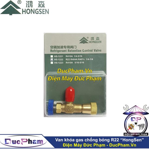 Van khóa gas chống bỏng R410 R32 HongSen