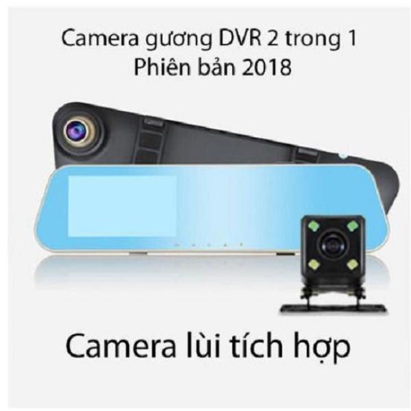 Camera hành trình trên gương tích hợp camera lùi 4 led 2 trong 1 đa năng kèm thẻ nhớ tốc độ cao