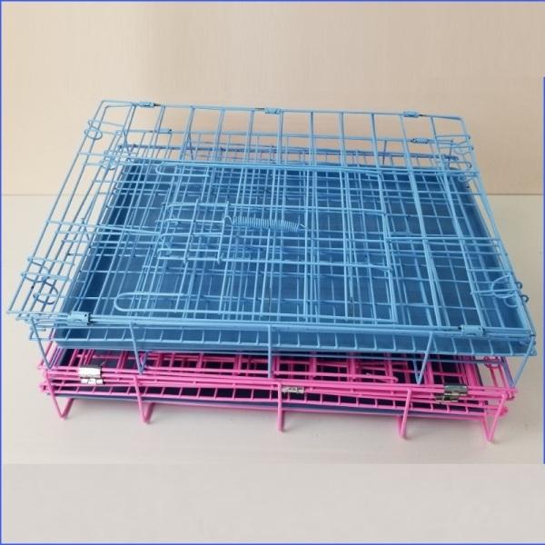 HN-  Lồng cho thú cưng (có 2 loại SD60 và SD75 ) dùng cho Các loại chó lớn màu ngẫu nhiên dạng gấp gọn sơn tĩnh điện dùng để làm chuồng nuôi chó mèo / chuồng nhốt thú cưng/ chuồng chó / chuồng thú cưng